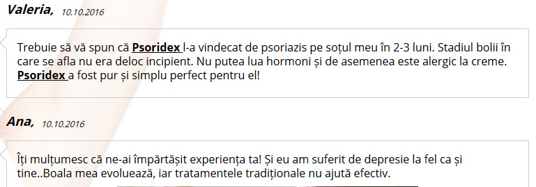 comentarii despre psoridex